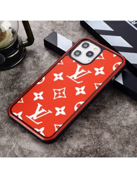 Louis Vuitton iPhone Case Hard Shell Cover Monogram Red