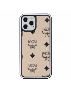 MCM iPhone Case Hard Shell Cover Beige
