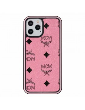 MCM iPhone Case Hard Shell Cover Pink