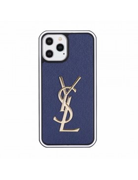 YSL iPhone Case Hard Shell Cover Blue