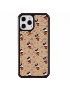 Gucci iPhone Case Hard Shell Cover Disney Mickey Brown