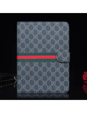 Gucci iPad Leather Case Stand Cover Ribbons Black