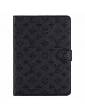 Louis Vuitton iPad Leather Case Stand Cover Black