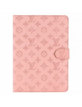 Louis Vuitton iPad Leather Case Stand Cover Pink