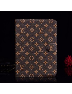 Louis Vuitton iPad Leather Case Stand Cover Monogram Canvas