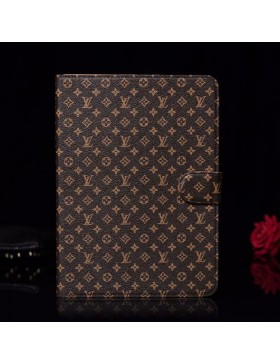 Louis Vuitton iPad Leather Case Stand Cover Monogram Brown