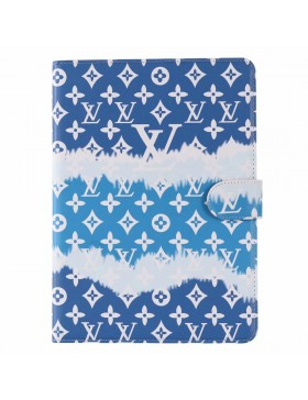 Louis Vuitton iPad Leather Case Stand Cover Monogram In Blue