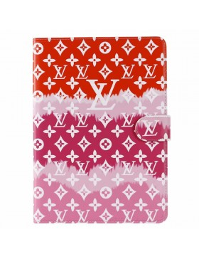 Louis Vuitton iPad Leather Case Stand Cover Monogram In Red