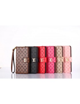 Louis Vuitton iPhone Vintage Embossed Leather Wallet Case