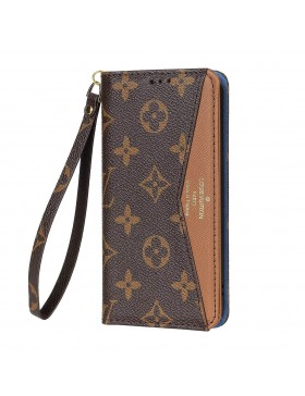 Louis Vuitton iPhone Wallet Case Brown V Stand Cover Monogram