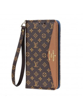 Louis Vuitton iPhone Wallet Case Monogram Brown V Stand Cover
