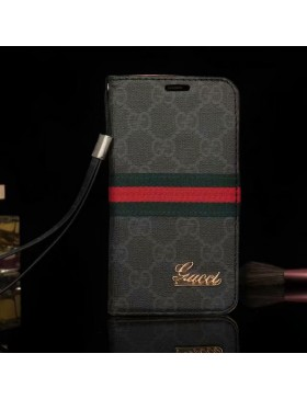 Gucci Phone Leather Case Black For iPhone