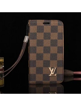 Louis Vuitton Phone Leather Case Damier Canvas For iPhone