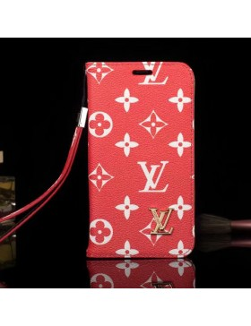 Louis Vuitton Phone Leather Case Red Canvas For iPhone