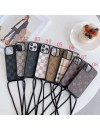 Louis Vuitton Gucci Burberry iPhone 13 Series Case Cover Hanging Hole Design