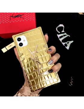 YSL iPhone Case Soft Cover Golden