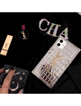 YSL iPhone Case Soft Cover Silver