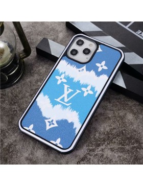 Louis Vuitton iPhone Case Hard Shell Cover Blue