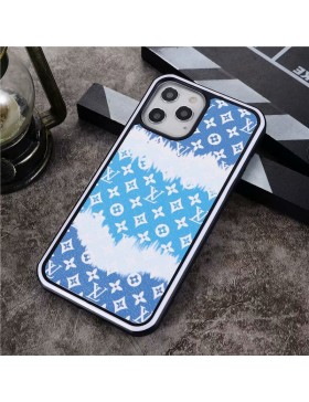 LV iPhone Case Hard Shell Cover Blue