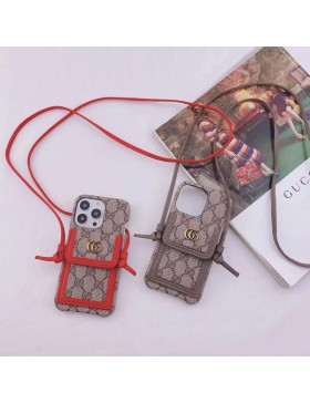 Gucci iPhone Crossbody Case Card Holder Cover